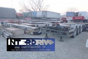 semirimorchio portacontainer allungabile adr Omt usato